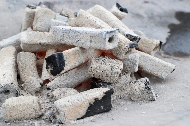 巨大な棒付きマシュマロも売っていたので、外の焚き火でマシュマロを焼く
