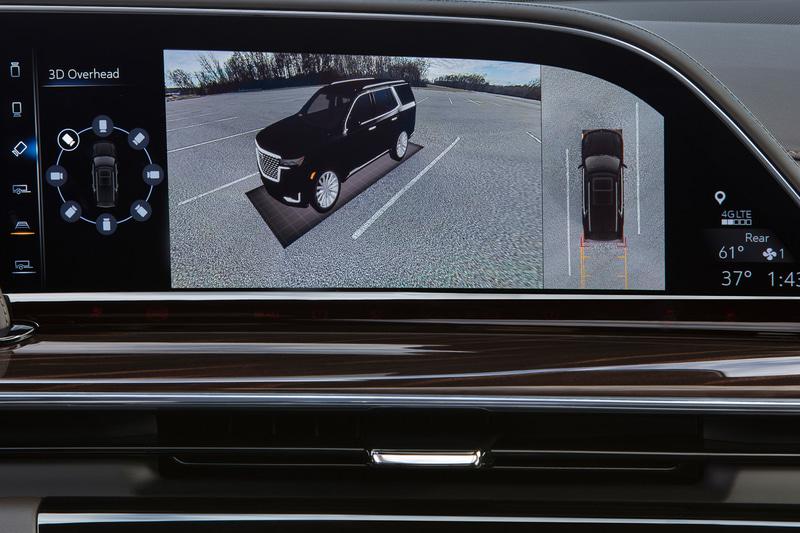 最大9つのカメラで車両の状態を確認できる。牽引しているトレーラーの状況もモニターで確認することが可能
