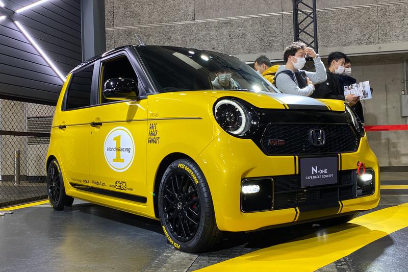 6速MTモデルの「N-ONE Cafe Racer Concept」