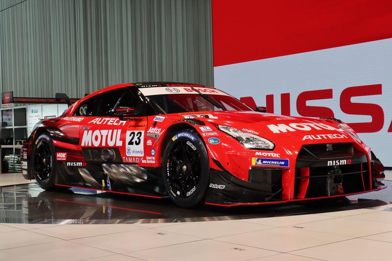 「日産モータースポーツファンイベント」で初公開された2020年仕様のGT500マシン「MOTUL AUTECH GT-R」