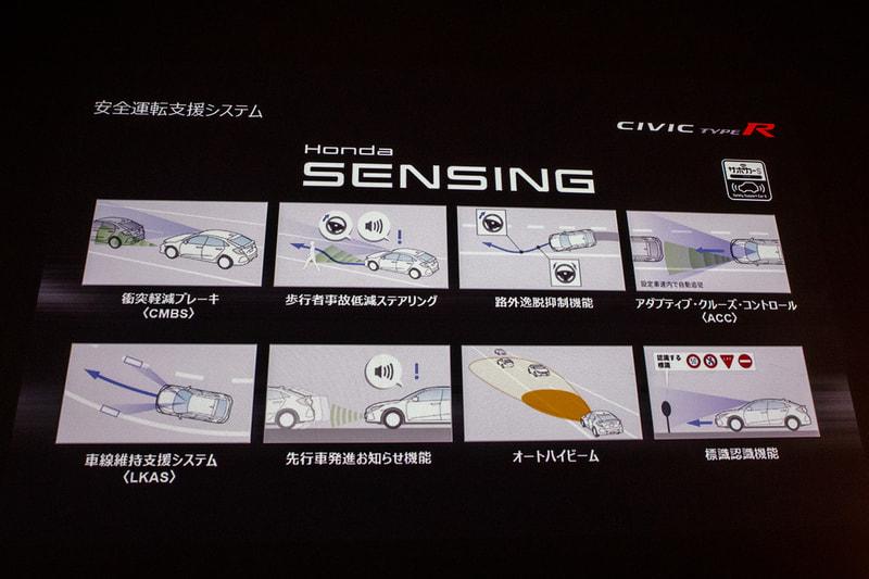 今の時代のスポーツカーには安全性の進化も重要なポイントであると考え、ACC(アダプティブクルーズコントロール)を含む、Honda SENSINGを装備する。サーキットなどでは安全機能をOFFにすることも可能