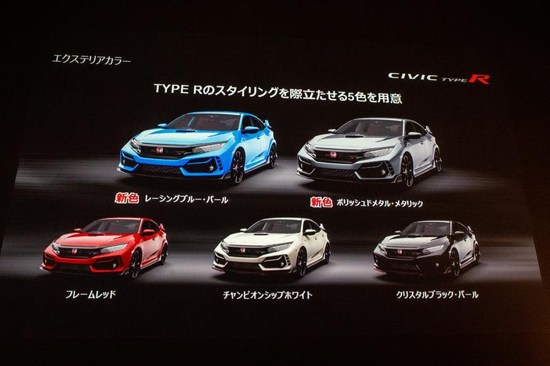 エクステリアカラーは全5色で、新色となるレーシングブルー・パールとポリッシュドメタル・メタリック(国内新色)が追加された