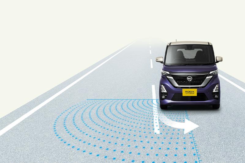 インテリジェント LI(車線逸脱防止支援システム)+LDW(車線逸脱警報)