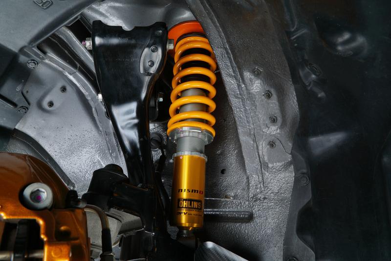 「全長調整式スポーツサスペンション」をBNR32型「スカイライン GT-R」に装着したイメージ