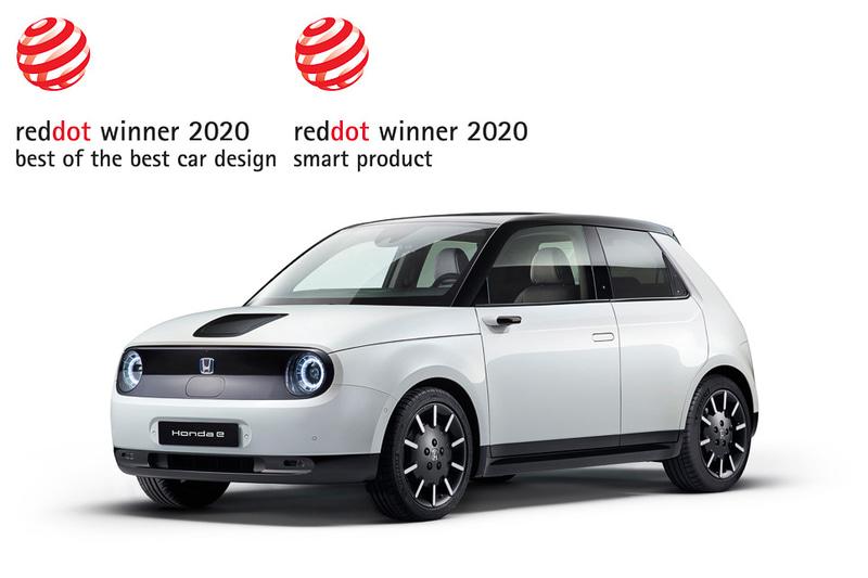 2020年のレッド・ドット・デザイン賞で「ベスト・オブ・ザ・ベスト賞」とスマート・プロダクト部門の「レッド・ドット賞」をダブル受賞したHonda e