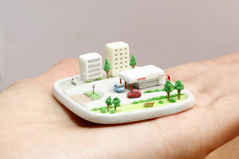 樹脂粘土の5㎜のヴェゼル「そのクルマ、世界最小ヴェゼル。(5mm)」