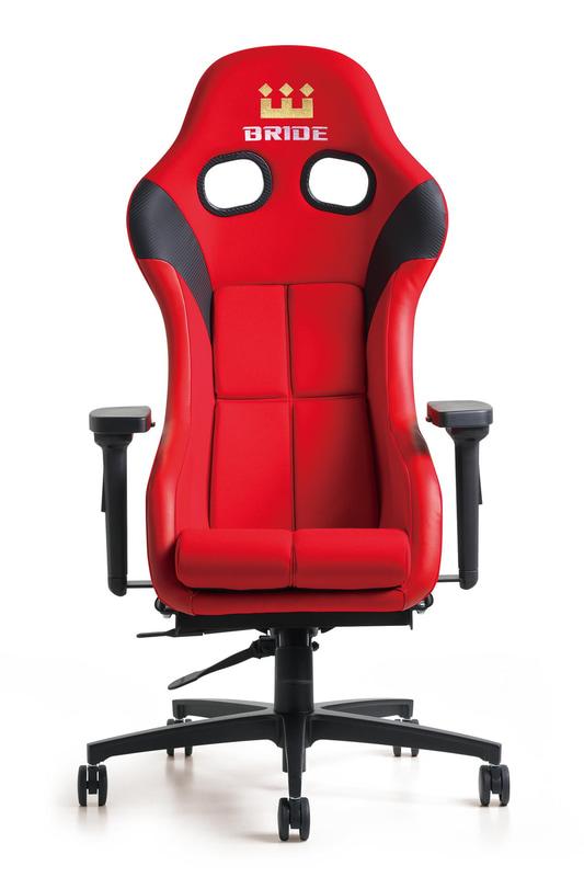 ブリッド製スポーツシートがキャスター付きチェアとして利用できるようになる。シート本体は別売り