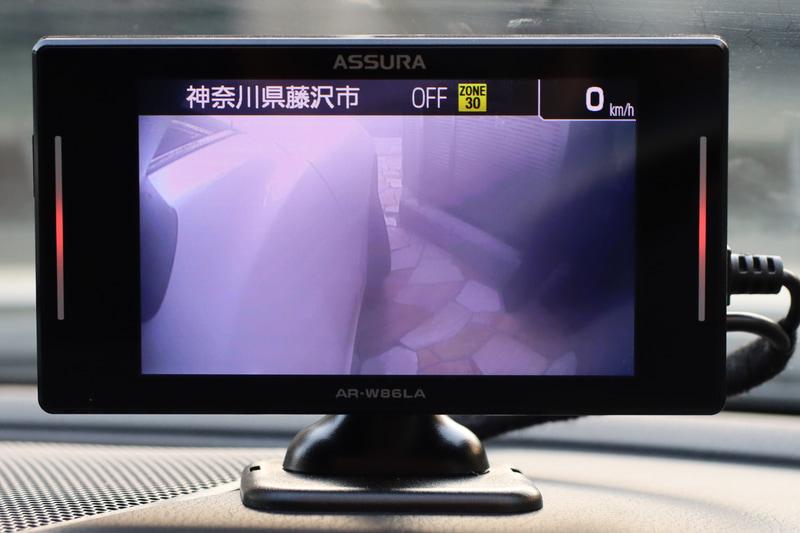 サイドカメラの映像、窓からのぞいた時よりもギリギリまで見えるようになりました