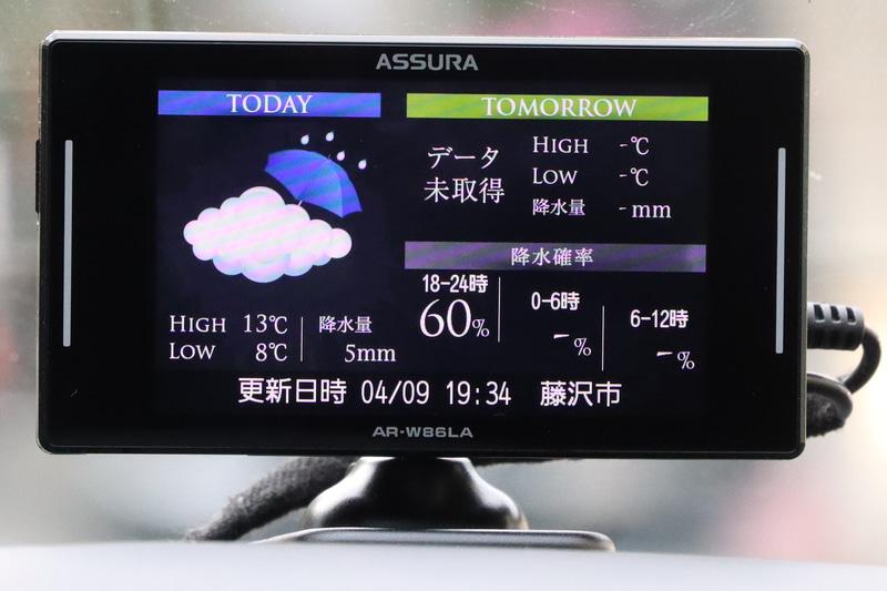 設定にもよるが天気などの情報もダウンロードできる
