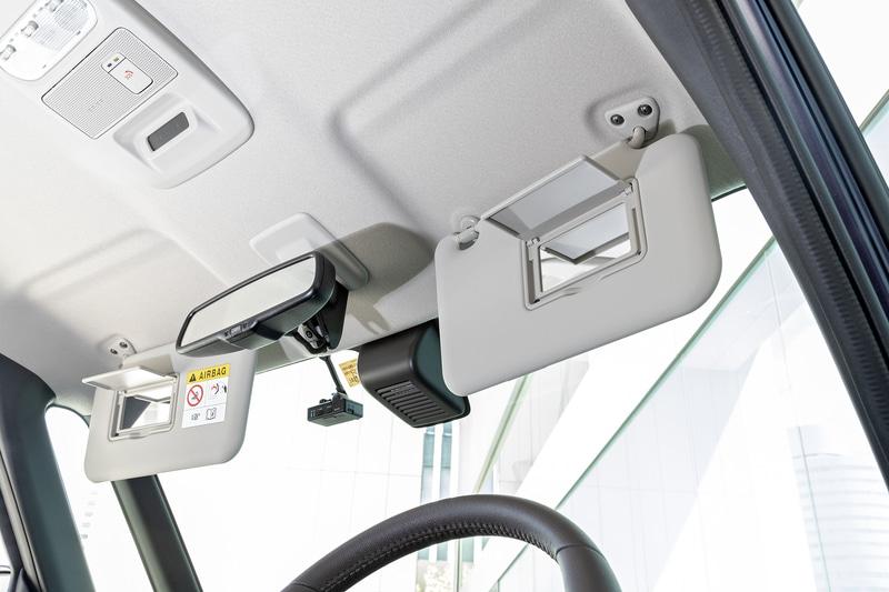 運転席バニティミラーは全車、助手席側はS、Xグレード以外に標準