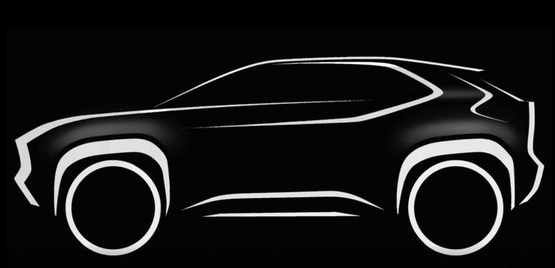 トヨタ自動車のイタリア現地法人が公開した新型コンパクトSUVのスケッチ