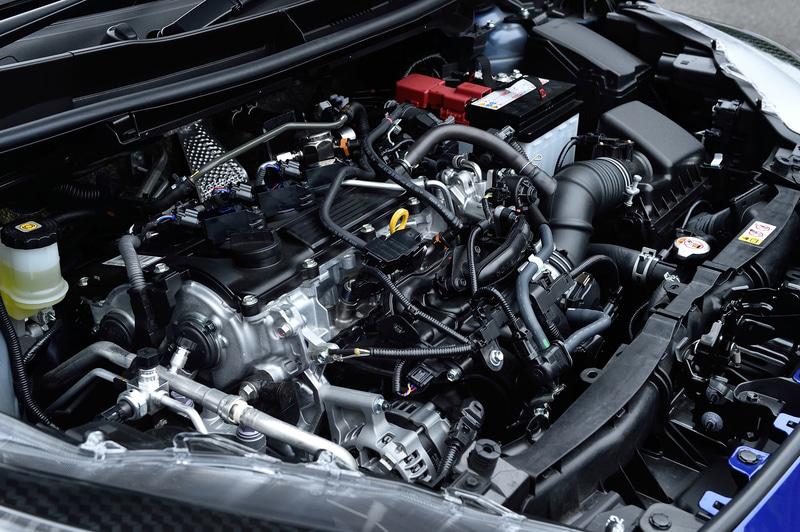 ヤリス Zが搭載するM15A-FKS型エンジンは最高出力88kW(120PS)/6600rpm、最大トルク145Nm(14.8kgfm)/4800-5200rpmを発生。WLTCモード燃費は19.6km/L