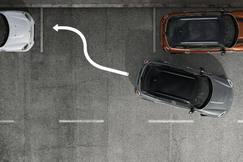 縦列駐車をサポートする「パーキング・アシスト」のイメージ