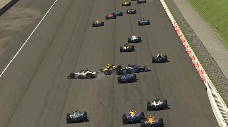 序盤4周目に前のドライバー達の接触に巻き込まれるが、ファーストリペアを使って同一周回の最後に復活