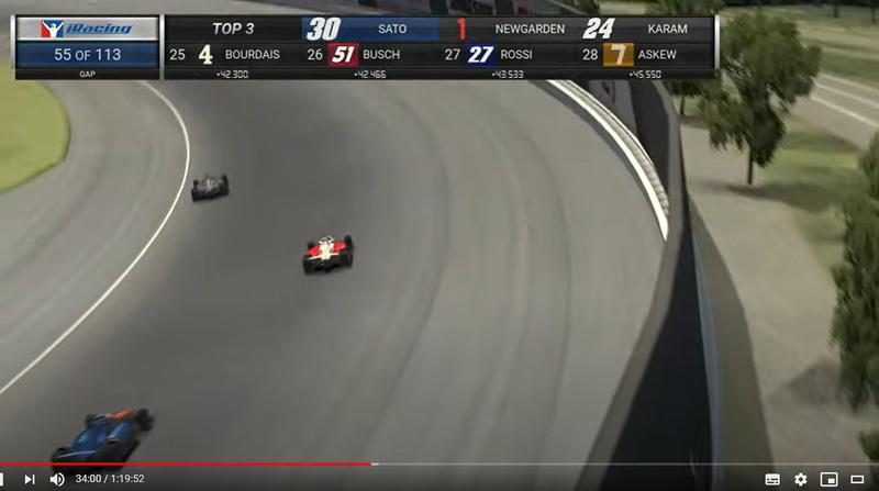 レース途中にはピットタイミングの違いもあり一時トップを走るシーンも