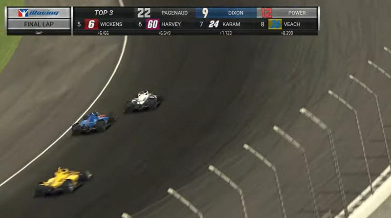 レースは追いすがるスコット・ディクソン選手を、サイモン・パジェノー選手が最終ラップの1コーナーでやや接触するという2012年のインディ500のリプレイかのような結末で振り切って優勝。