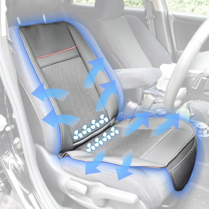 計8個のファンとメッシュ地のシート表皮を使ってシート表面を換気。湿度が高まる梅雨や夏場のドライブを快適にしてくれる