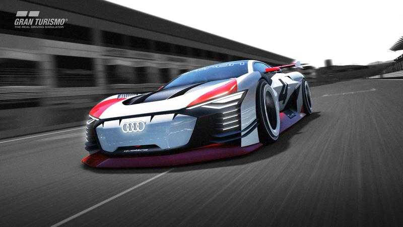 バーチャルレーシングカーAudi e-tron Vision Gran Turismo