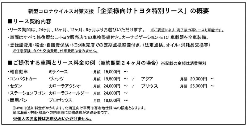 トヨタモビリティサービス株式会社が公表したサービス内容