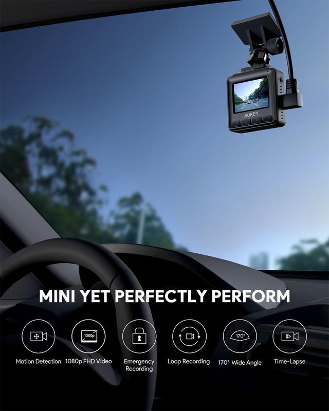 超コンパクトなので視界を遮ることなく、車内にすっきり設置可能