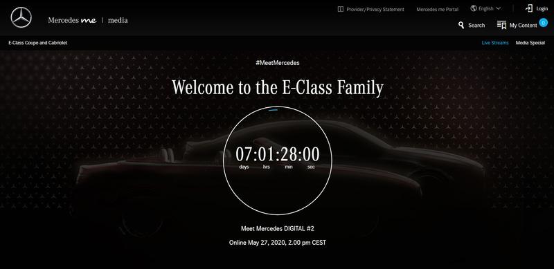 新型「Eクラス クーペ&カブリオレ」を5月27日14時(現地時間)に発表