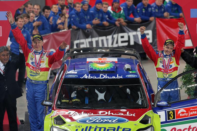 優勝したミッコ・ヒルボネン、ヤルノ・レーティネン(フォードフォーカスRS WRC08)はラリージャパン2連勝