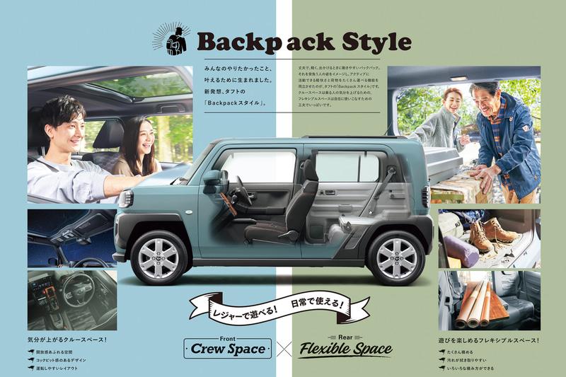 新しいパッケージングコンセプト「Backpackスタイル」を採用