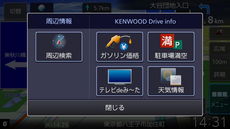 KENWOOD Drive Infoを利用することでリアルタイム情報の取得が可能に