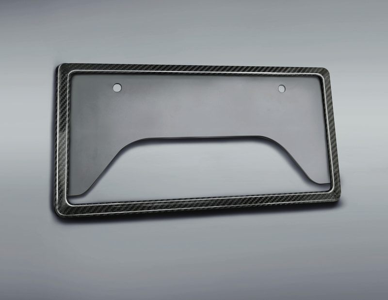 GRカーボンナンバーフレーム(フロント用・リア用):各1万9800円