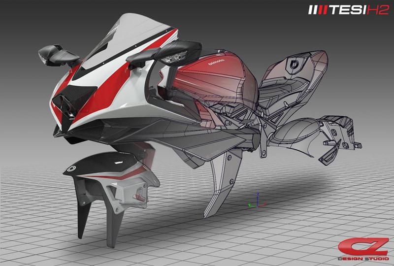 直近の作品「bimota TESI H2」