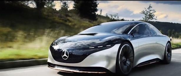 メルセデス・ベンツのコンセプトカー「VISION EQS」の走行映像