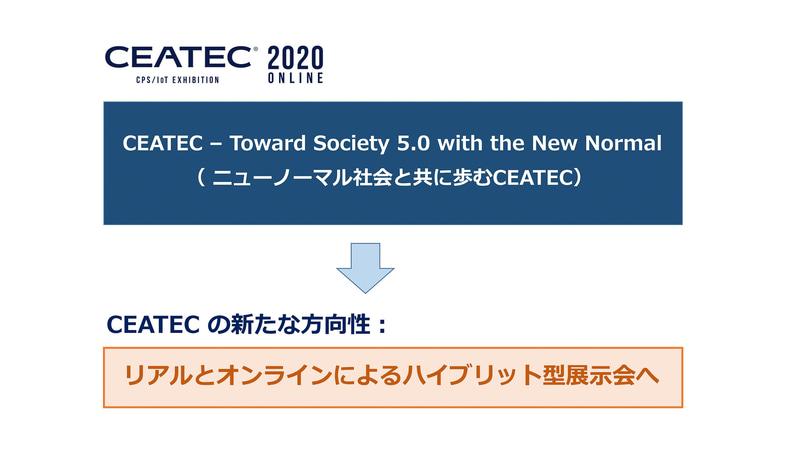 CEATEC 2020 ONLINEのスローガンと今後の展開