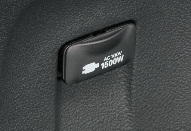 一部改良でAC100V・1500Wのアクセサリーコンセントを全車標準装備