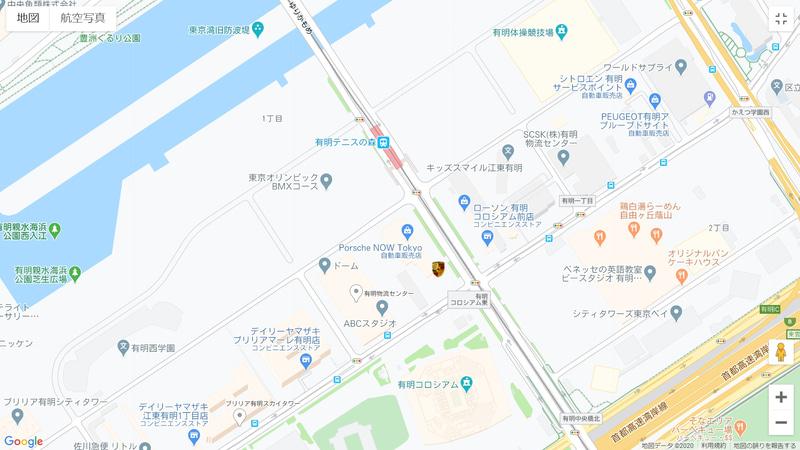 近くには2020年6月にオープンしたばかりの大型ショッピングシティ「有明ガーデン」があり、Porsche NOW Tokyoとあわせて丸1日でも楽しめるエリアとなっている