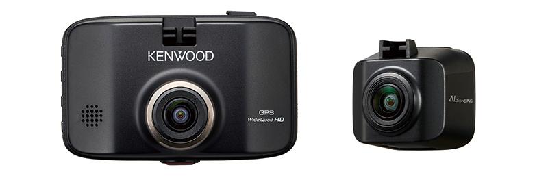 ケンウッドブランドの前後撮影対応2カメラドライブレコーダー「DRV-MR8500」
