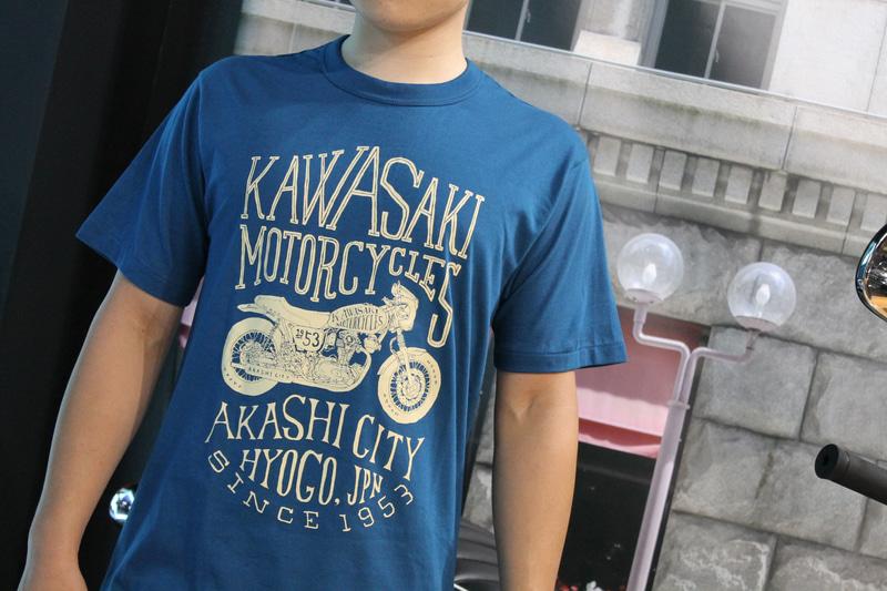 カワサキ デザインTシャツ(W)カラー:インクブルー