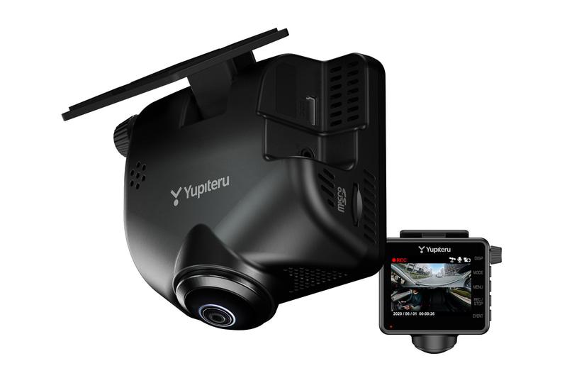 液晶画面付きのフロントカメラ。サイズは69×39×72mm(幅×奥行き×高さ)