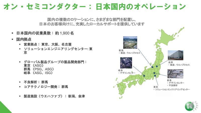日本国内におけるオン・セミコンダクター