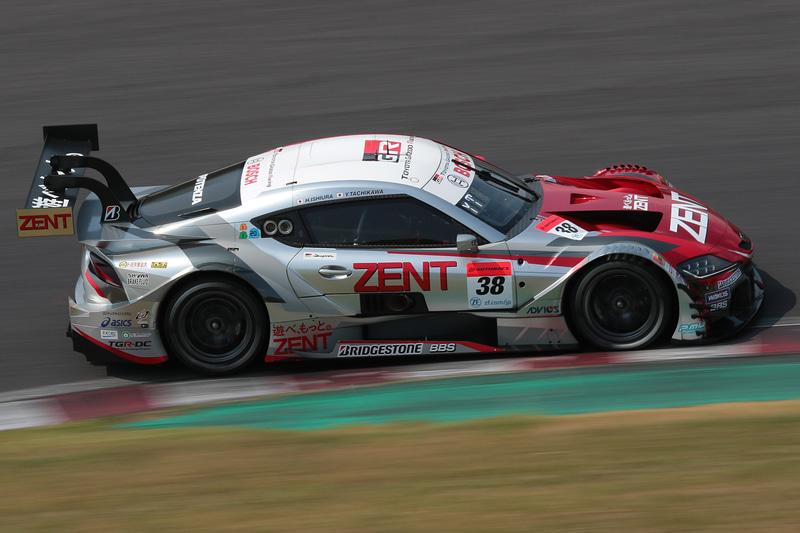 予選3位、トヨタ勢最上位 38号車 ZENT GR Supra(立川祐路/石浦宏明組、BS)