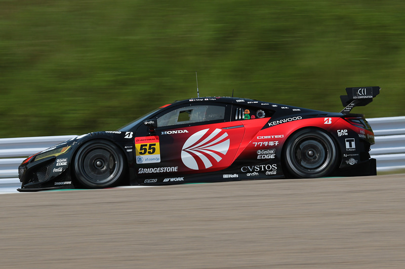 予選2位は、55号車 ARTA NSX GT3(高木真一/大湯都史樹組、BS)