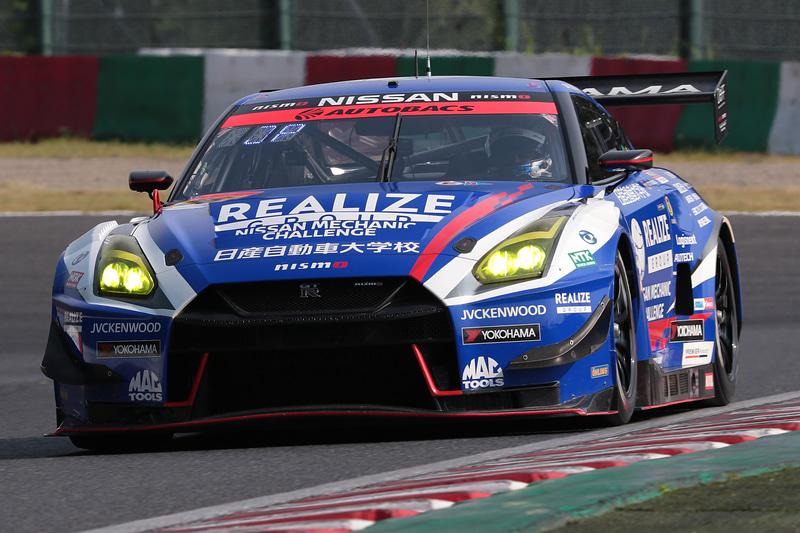 予選3位はは56号車 リアライズ 日産自動車大学校 GT-R(藤波清斗/ジョアオ・パオロ・デ・オリベイラ組、YH)