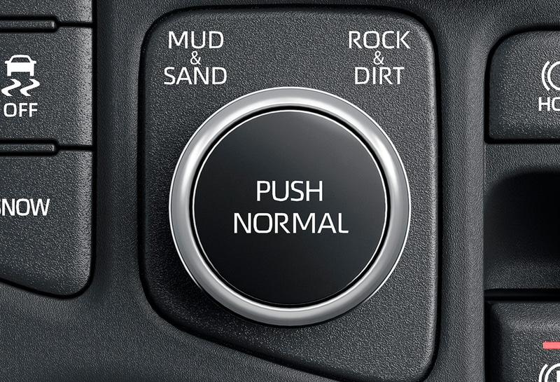 マルチテレインセレクトは、ワンプッシュでノーマルモードに復帰できる