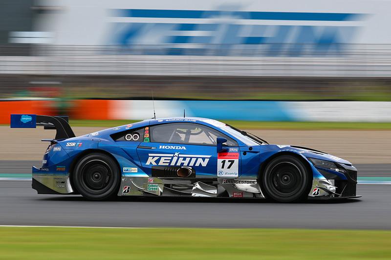第4戦もてぎを優勝した17号車 KEIHIN NSX-GT(塚越広大/ベルトラン・バゲット組、BS)