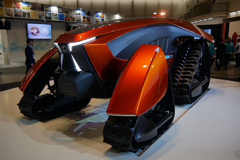 1月に公開された、クボタの未来の完全無人トラクターのコンセプトモデル「X tractor(クロス トラクタ)」