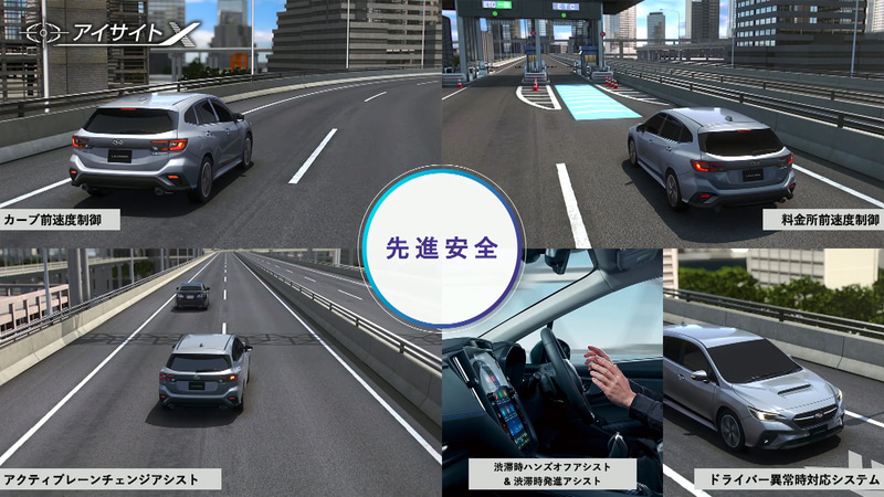 高度運転支援システムのアイサイトXは有無を選択可能