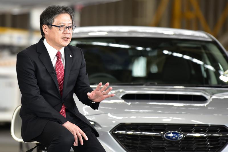新型レヴォーグの対談に登壇した日本航空株式会社 常務執行役員 整備本部長 北田裕一氏。株式会社JALエンジニアリング社長でもある