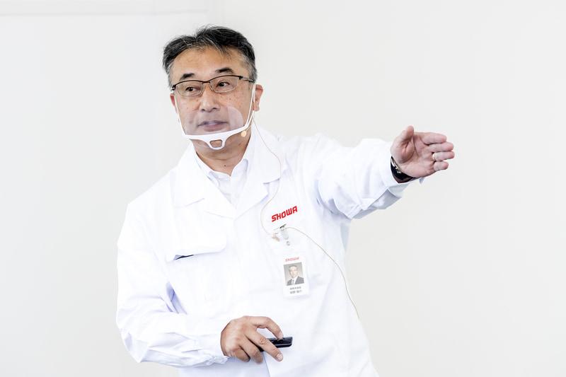 ショーワの技術全体について解説していただいた株式会社ショーワ 取締役 専務執行役員 開発本部長 関野陽介氏