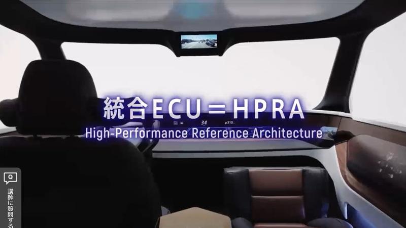 アルプスアルパインが開発している統合ECU=HPRA