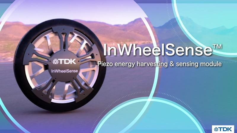 ピエゾ環境発電デバイス「インホイールセンス(In Wheel Sense)」を出展