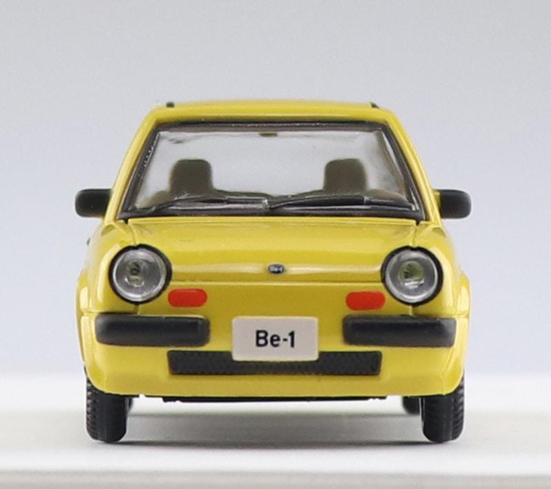 「1/64 Nissan Be-1 コレクション」。同商品は日産自動車株式会社のライセンスプロダクト。オリジナルカラー表記商品は日産の許可を取り制作している